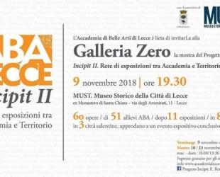 Galleria Zero - Mostra del progetto Incipit