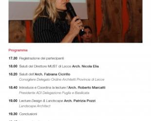 Design & Lanscape: abitare la natura - Lecture Patrizia Pozzi 26 Maggio 2016